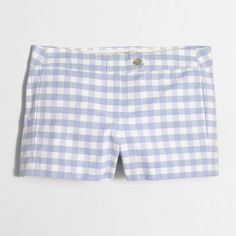 "J.Crew Factory 3"" printed stretch chino short ($30) ❤ liked on Polyvore featuring shorts, j. crew shorts, zipper pocket shorts, chino shorts, stretchy shorts and zipper shorts"