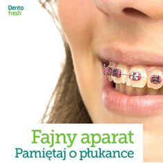 Nosisz aparat ortodontyczny? Masz problem z nieświeżym oddechem? Stomatolodzy zdecydowanie zalecają płukanki! #dentofresh #dobrarada