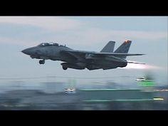 F-14 TOMCAT Full Afterburner Vertical Take off [Long] - YouTube