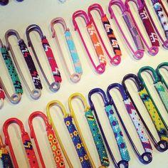 Peyote stitch pins by RTH
