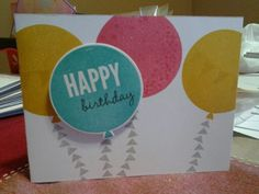 Birthday card, simple Birthday Cards, Happy Birthday, I Card, Stampin Up, Card Making, Invitations, Friends, Simple, Bday Cards