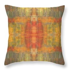 Gemstones Throw Pillow by Elizabeth Cope May. The brilliance of gemstones is the inspiration for this exuberant design. Its rich geometric pattern, with its colors of red, orange, teal, yellow, peach, and mauve, will bring a touch of opulence and richness to your home decor or fashion accessory. Multi sizes at http://ElizabethCopeMay.com.