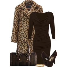 Animal Print Coat, created by denise-schmeltzer on Polyvore