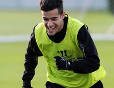 Coutinho training ahead of the derby.