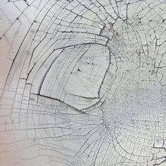 Cecil Touchon  Cracked Surface  photograph of a white surface with cracks