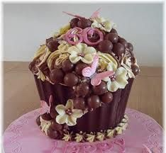 Adults giant cupcake