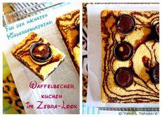 Patce's Patisserie: Waffelbecher-Zebrakuchen [Der Hit auf dem nächsten Kindergeburtstag, garantiert!]