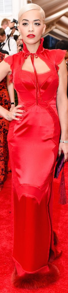 ON THE RED CARPET via LOLO repined BellaDonna updated - RITA ORA IN TOM FORD 2015 MET GALA