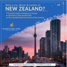 Are you planning to move abroad? You want to know why living, working or settling in New Zealand can be a good option. The unbeatable education system and infrastructure are what it takes, to make a country be a dream destination for thousands of aspirants.  Come visit our experts to know more about the Visa process: +919873113624  #rajnigargvisa #visaguide #newzealandvisa #workabroad #workvisa New Zealand Work Visa, Work In New Zealand, Work Abroad, Study Abroad, My Dream Came True, Career Opportunities, Education System, Paths, Graphics