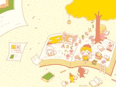読書の秋(イエロー) ■ カナヘイの家
