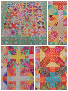 Been thinking about making this quilt in Kaffe's and this is a great example. Love the border too.
