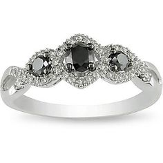 Miadora 10k Gold 1/2ct TDW Black and White Diamond Ring (H-I, I2-I3) | Overstock.com Shopping - Top Rated Miadora Diamond Rings