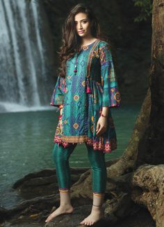 Edenrobe Embroidered Lawn Unstitched 2 Piece Suit 019510 - Spring / Summer Collection Source by sanaullastore dresses design Simple Pakistani Dresses, Pakistani Fashion Casual, Pakistani Dress Design, Pakistani Outfits, Pakistani Frocks, Pakistani Mehndi, Stylish Dresses For Girls, Frocks For Girls, Girls Fashion Clothes