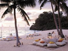 Beach party idea - how romantic!