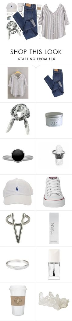 """DAY WEAR - CASUAL FRIDAYS // YOINS"" by pretty-basic ❤ liked on Polyvore featuring Cheap Monday, Pieces, Converse, The 2 Bandits, NARS Cosmetics, Christian Dior, WALL, daywear, prettybasic and yoins"