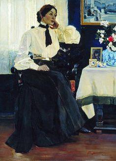 Михаил Васильевич Нестеров. Портрет Екатерины Петровны Нестеровой. 1905
