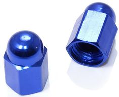 "Amazon.com : (2 Count) Cool and Custom ""Hexagon Circular Top with Easy Grip Shape"" Tire Wheel Rim Air Valve Stem Dust Cap Seal Made of Genuine Anodized Aluminum Metal {Metallic BMW Blue Color - Hard Metal Internal Threads for Easy Application - Rust Proof - Fits For Most Cars, Trucks, SUV, RV, ATV, UTV, Motorcycle, Bicycles} : Sports & Outdoors"