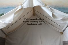 use canvas to build an indoor camping tent for a kids bed, The Ragged Wren on Remodelaholic