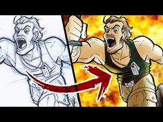 PHOTOSHOP HACK: Sketch to Digital Art - FAST AND EASY! - YouTube