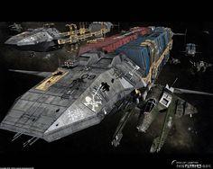 Pirate Freighter Waran by ~TMC-Deluxe on deviantART