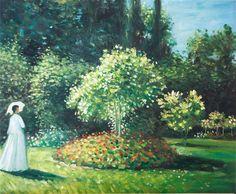 Jeanne Marguerite Lecadre im Garten von Claude Monet
