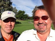 Bart DeLio and me at Mile Square Players Golf Course in Fountain Valley, California.