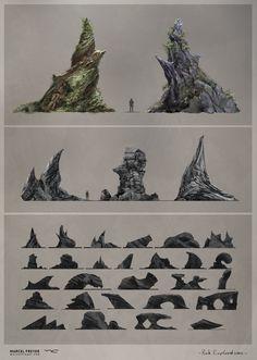 ArtStation - Game Asset Concepts - Stones & Rocks , Marcel Freyer