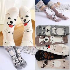 aee07f53473c7 1 Pairs Cartoon Women's Dog Animal Printed Ankle Sock Cotton Casual Socks  New #fashion #