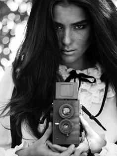 Nice black and white portrait