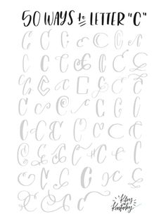 Fifty ways to draw C