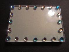 BLUE & WHITE BLING magnetic photo frame by giftabulous on Etsy, $10.00