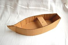 Little cardboard boats, could be adapted for a pirate ship.