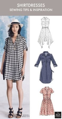 Sewing patterns - shirtdress patterns and inspiration. Plus, 8 shirtdress sewing tips to help you sew like a pro. On the McCall Pattern Company blog.