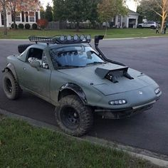 We discovered one other rally Miata Gingium come out and play bro Custom Muscle Cars, Custom Cars, Offroader, Lifted Cars, Mazda Miata, Mazda Mx 5, Trucks, Modified Cars, Pick Up