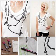 Trompe L'Oeil Necklace T-Shirt DIY