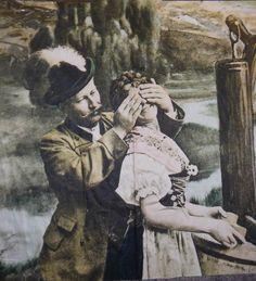 Stückware Schürze Dirndlstoff Alte Liebe Romantisch in Möbel & Wohnen, Hobby & Künstlerbedarf, Stoffe | eBay