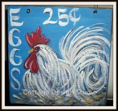 Hey, I found this really awesome Etsy listing at https://www.etsy.com/listing/243406804/rooster-sign-rooster-painting-country