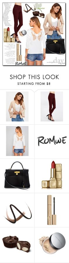 """Romwe XL-10"" by azra-90 ❤ liked on Polyvore featuring Hermès, Guerlain, Burberry and Stila"
