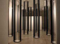 Way cool!  vhs tape art.  Love those columns!