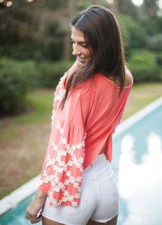 We should be receiving these cute coral Judith March tops any day now!  www.shopcocobella.com