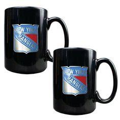 New York Rangers 15oz. Coffee Mug Set - Black - $29.99