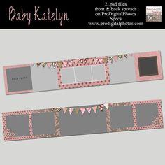 Baby Katelyn 3x3 Mini Accordion Album custom by fototaledesigns