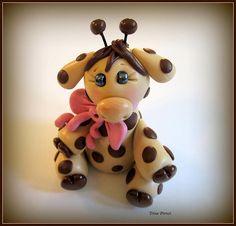 polymer clay Baby Giraffe By @Trina Prenzi