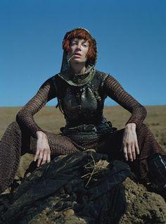 Fall Fashion: Kristen McMenamy in medieval fashion Photos   W Magazine