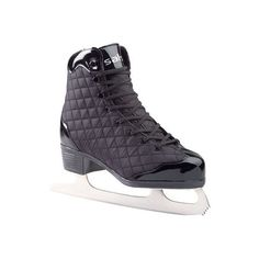 American Athletic Shoe Women's Quilted Patent Leather Figure Skates (335 DKK) ❤ liked on Polyvore