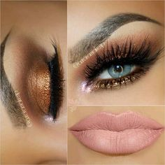 Bronze Smokey Eye Look for Blue Eyes smokey eye make up,bronz eye make up 31 Eye Makeup Ideas for Blue Eyes Pink Eye Makeup Looks, Eye Makeup Tips, Makeup Goals, Gorgeous Makeup, Beauty Makeup, Makeup Ideas, Makeup Tutorials, Makeup Geek, Runway Makeup