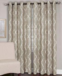 "Elrene Medalia 52"" x 108"" Panel - - Macy's for the sliding door. Grommet panels with large rod."