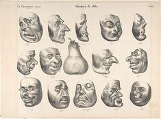 Masks of 1831, published in La Caricature  Artist: Honoré Daumier (French, Marseilles 1808–1879 Valmondois)