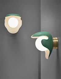 Pair of large wall lights, designed for the canteen, Aarhus Oil Factory AS by Palle Suenson