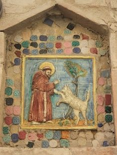 St Francis on wall in Assisi